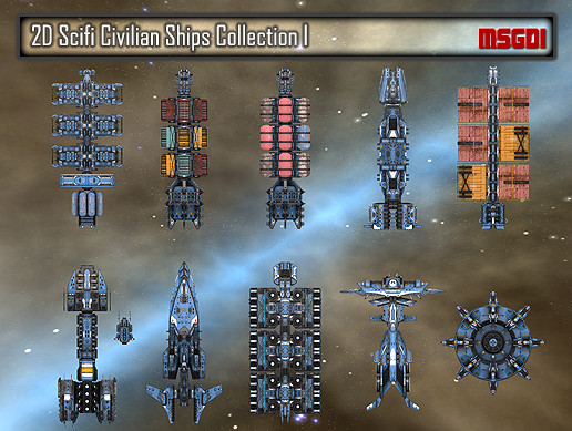 2D Civilian Ships Collection I
