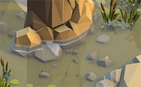 Water Effect Fits For Lowpoly Style