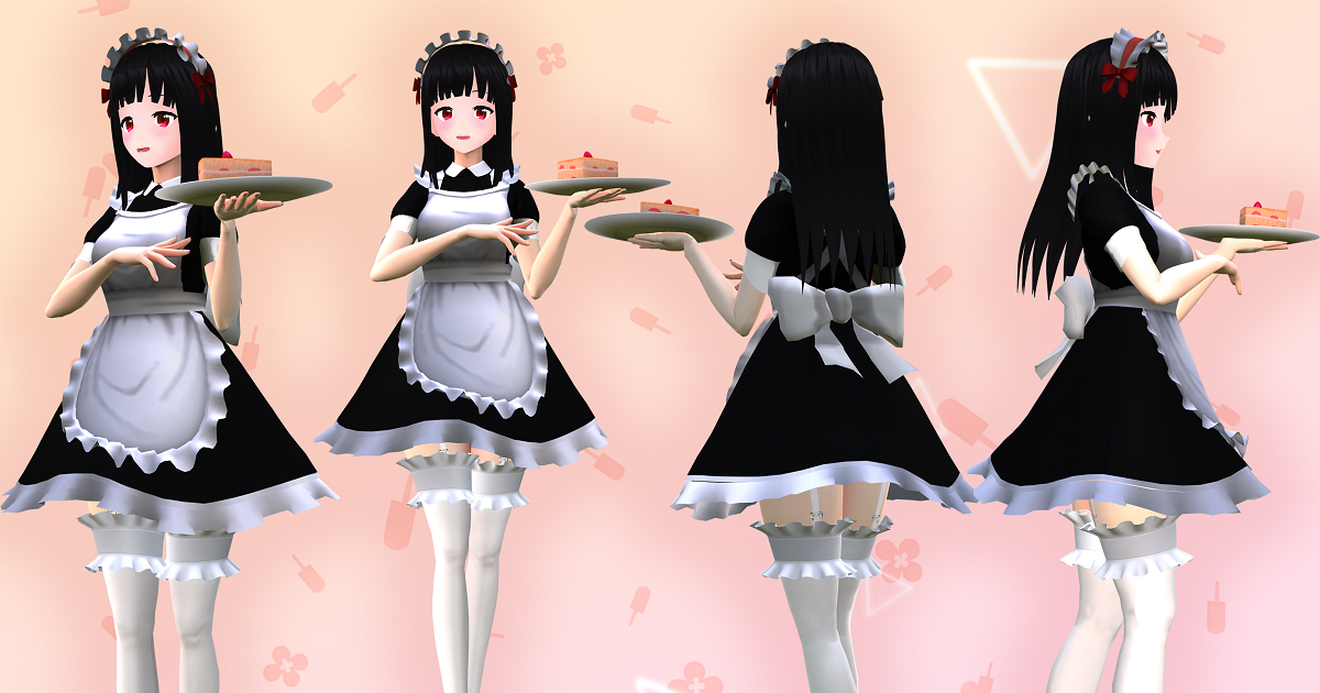 Luna Maid: Anime-Style Character For Games And VRChat