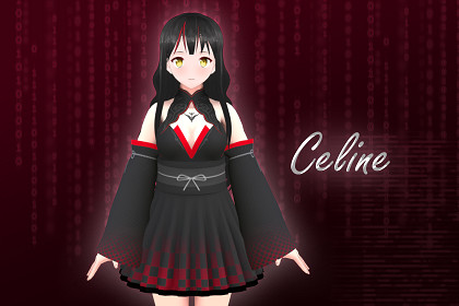Celine 3D: Anime Style Character (For VRChat/Game-Ready)