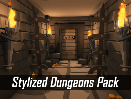 Stylized Dungeons Pack - Lowpoly Cartoon Asset