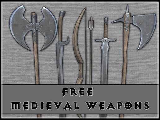 Medieval melee weapons