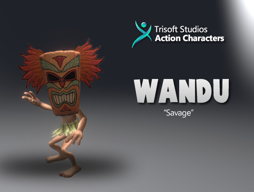 Wandu 3D Rigged Cartoon Character AA Quality