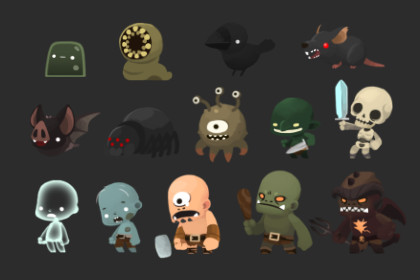 2D SD Monster Pack