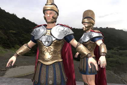 Roman greek warrior