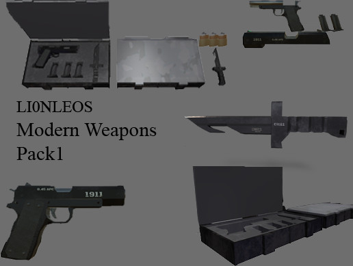 Light Weight Modern Weapons Pack
