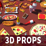 More 3D Fast Food Lowpoly Models