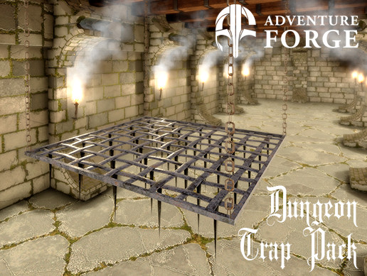 Dungeon Trap - Falling Spike Grate
