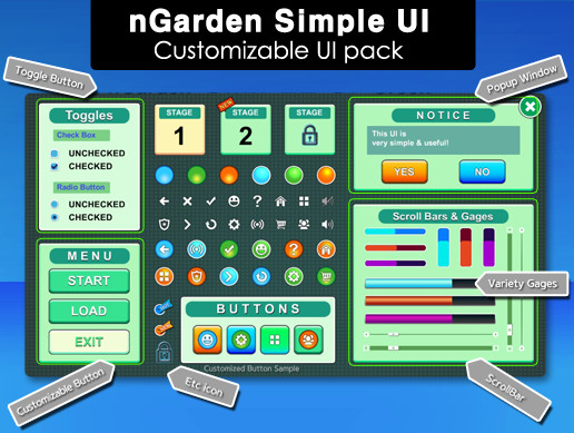 nGarden Simple UI (Green)