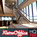 HQ PBR Retro Office Environment