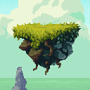Magic Cliffs Pixel Art Environment