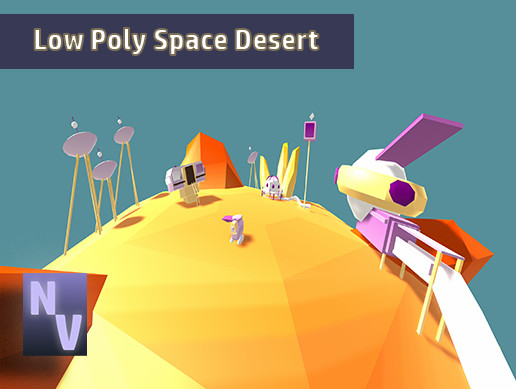 Low Poly Space Desert