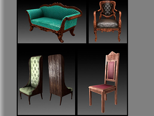 Armchairs Furniture Pack