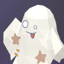 Poly Art Ghost