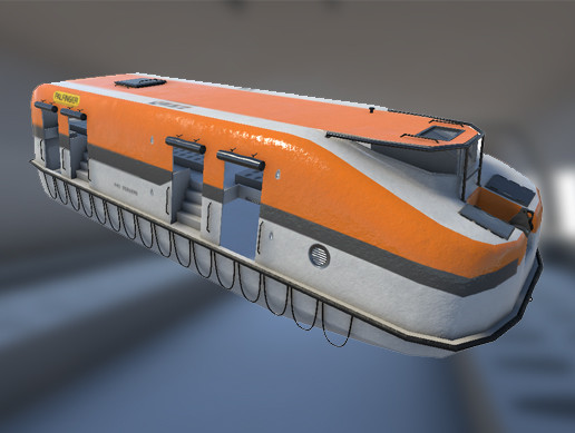 Lifeboat - 3D Model with interior