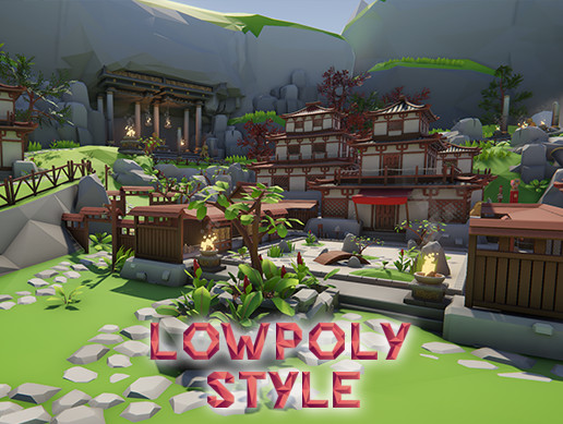Lowpoly Style Asia Pack
