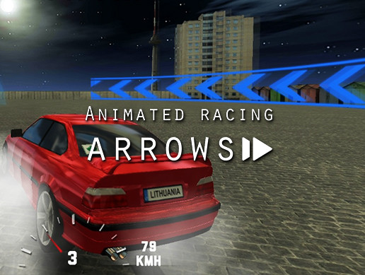 Animated racing arrows