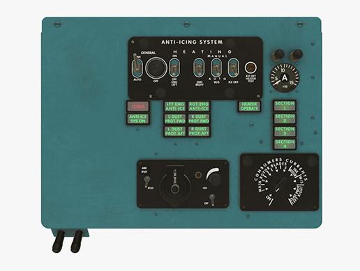 Mi-8MT Mi-17MT Left Overhead Panels Board 2 English