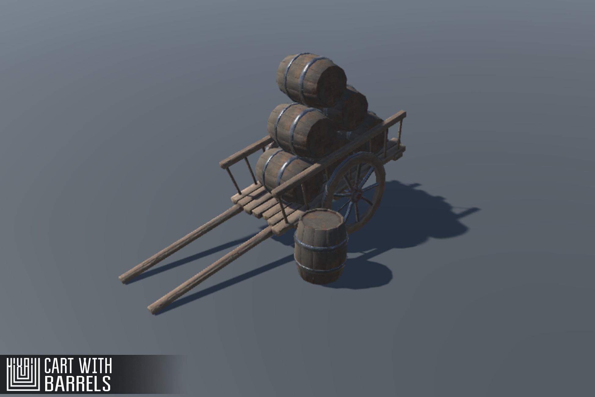 Cart with Barrels
