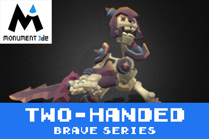 Catacomb Skeleton Two_Handed - Brave Series