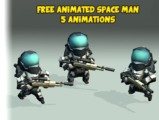 Free Animated Space Man - Asset Store