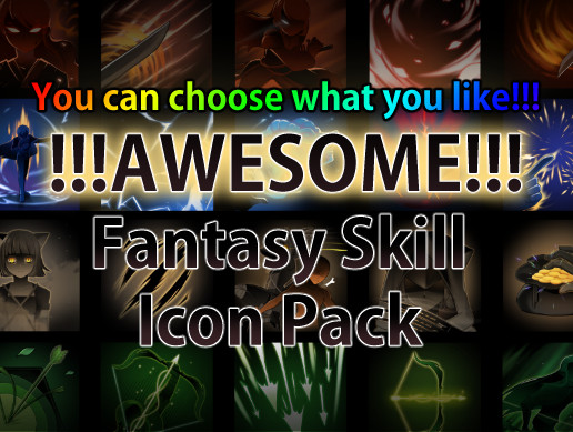 Awesome Fantasy Skill Icon pack