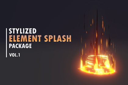 Stylized Element Splash Package vol.1