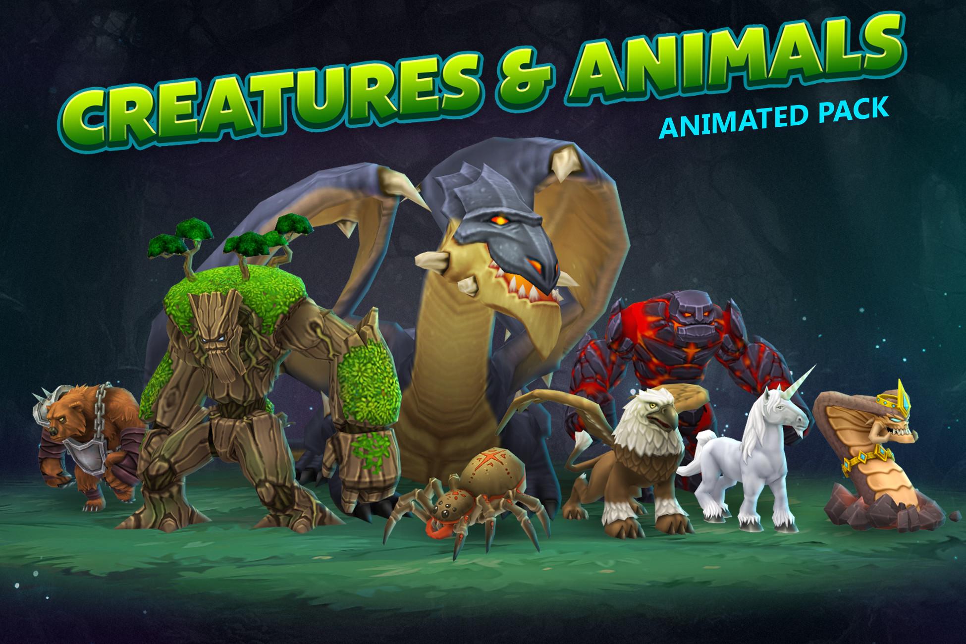 Creatures & animals animated pack