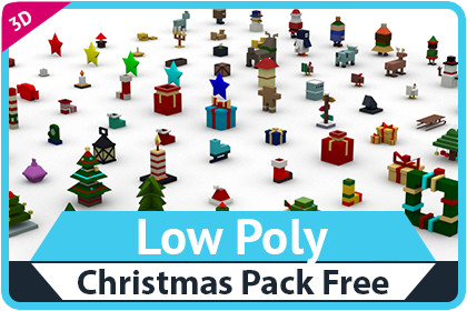 Low Poly Christmas Pack Free