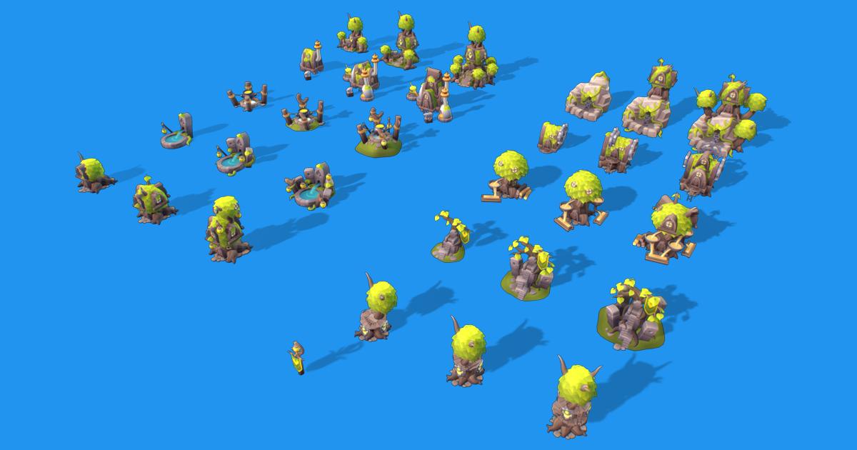 Elf RTS Building Set - Proto Series