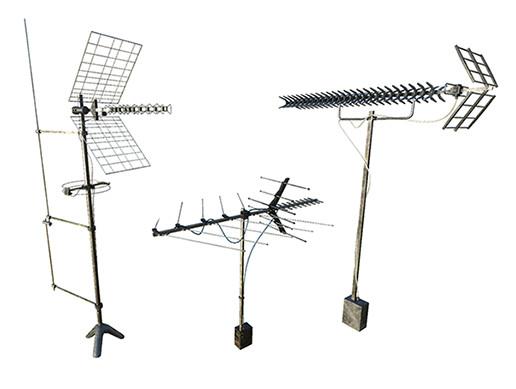 Set Of Outdoor Antennas