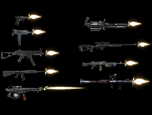 Weapons and FX 2D (Scripts included)