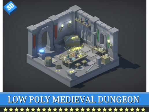 Low Poly Medieval Dungeon