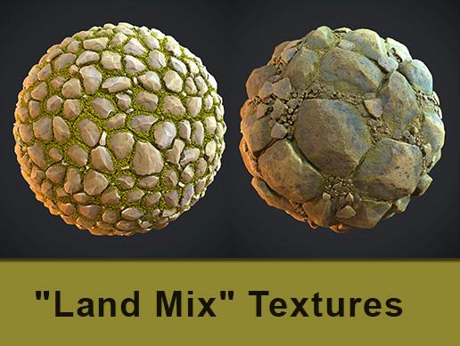 """Land Mix"" 14 PBR Textures"