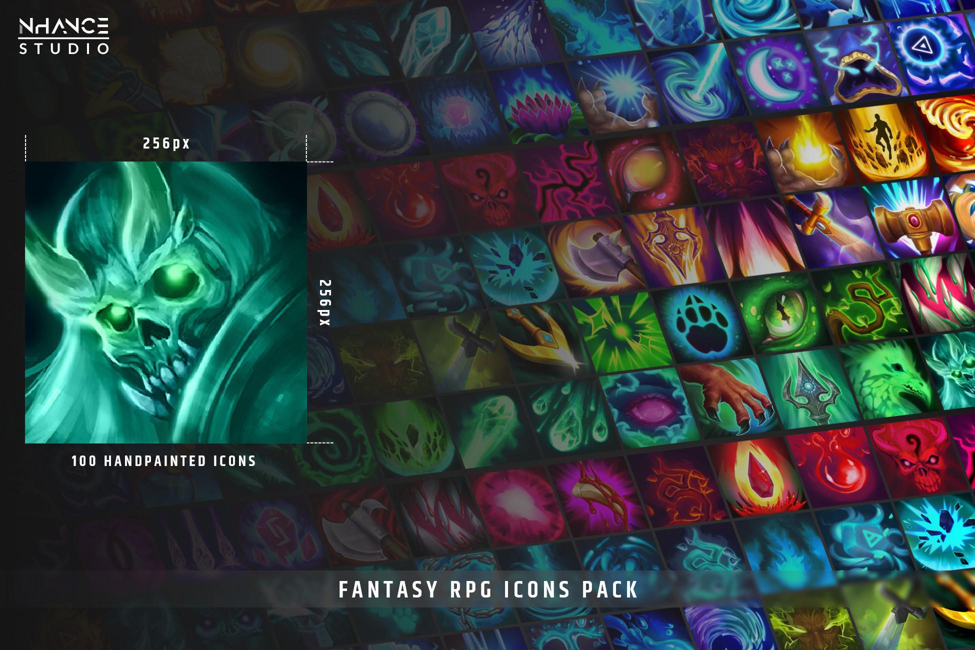 Fantasy RPG Icons Pack