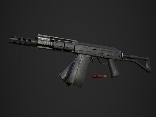 Sayga 12 Custom, Modern Russian Automatic Shotgun [PBR Weapon]
