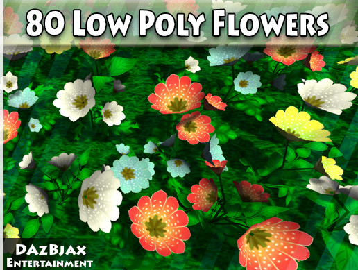 Low Poly Flowers Vol 1 - Asset Store