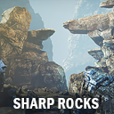 Sharp rocks