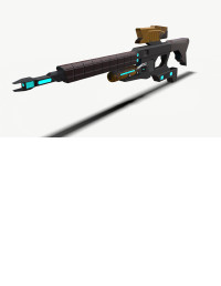 Sci-Fi Rifle Low Poly