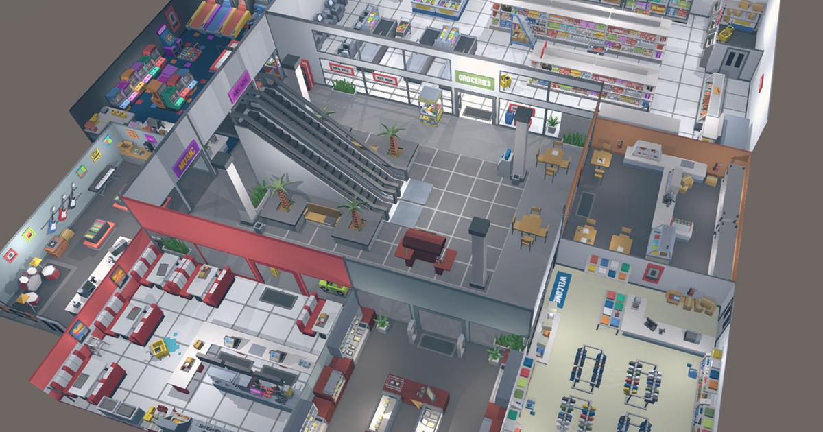Simple Shop Interiors - Cartoon assets