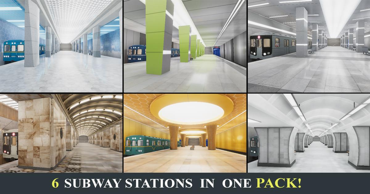 Subway Stations (6 Scenes)