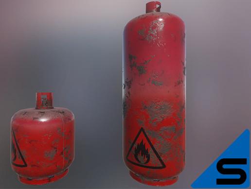 Rusted Gaz Bottles