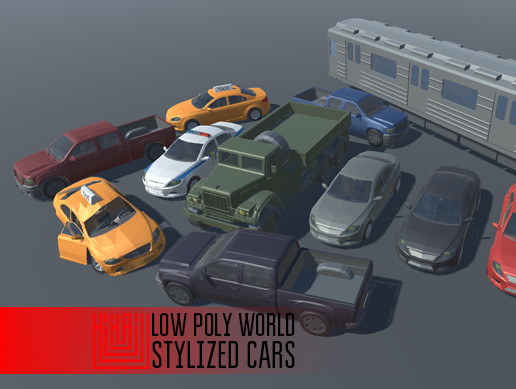 LOW POLY WORLD - STYLIZED CARS