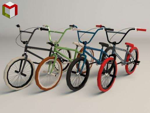 Low Poly BMX Bike