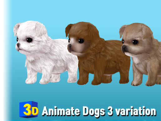 3D Animate Puppy Pack