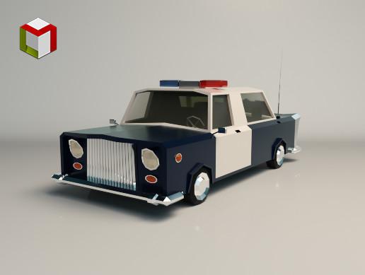 Low Poly Police Car 01