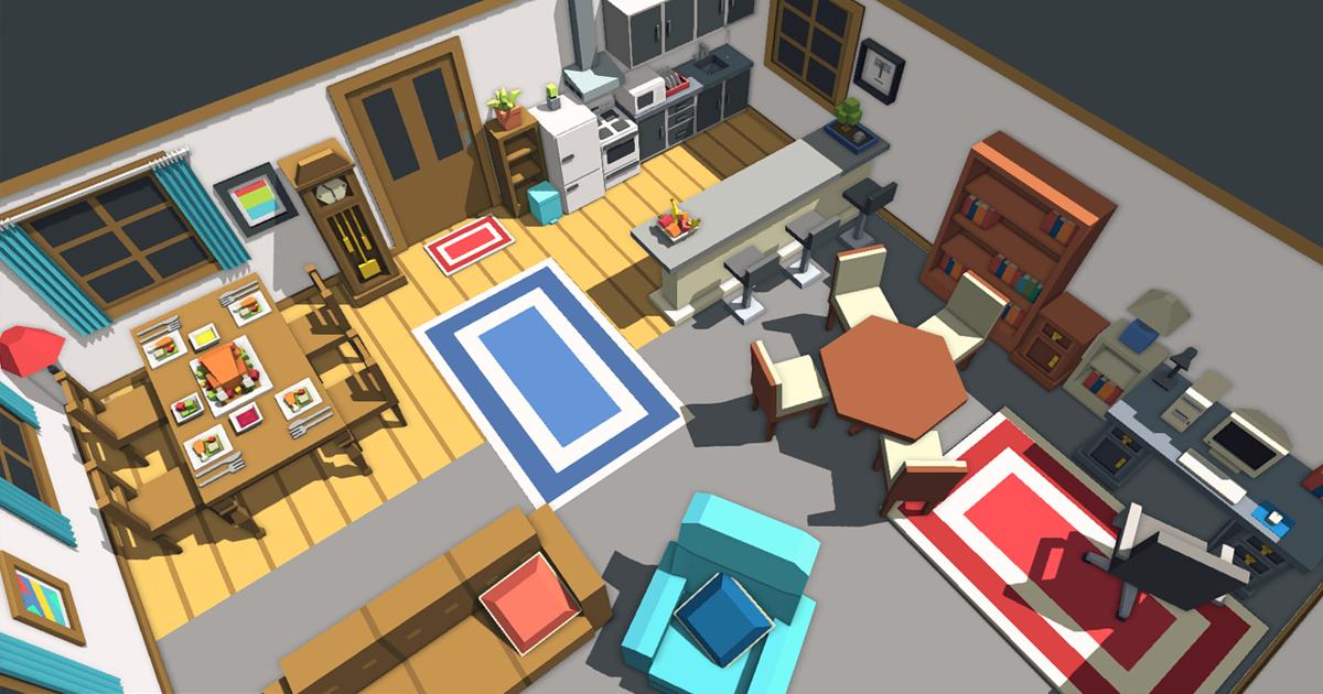 Simple House Interiors - Cartoon assets