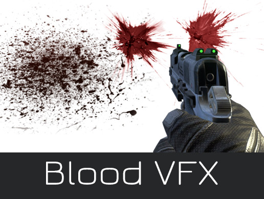 Blood Effects Realistic VFX Damaged Hits Burst Decals Splat