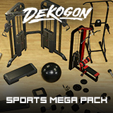 Sports and Gym Equipment VOL.1 - 5 - MEGA PACK