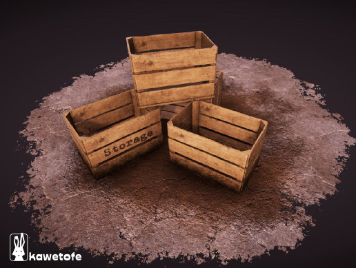 Dirty Wooden Crate